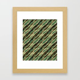 Abstract camouflage pattern. 2 Framed Art Print