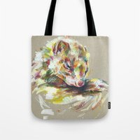 ferret Tote Bags featuring Ferret IV by Nuance
