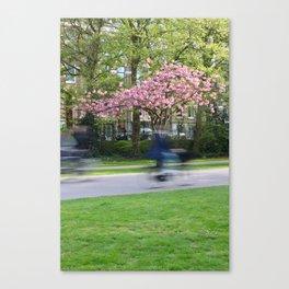 Amsterdam bikers Canvas Print