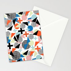 Kimbah - abstract art print shapes modern geometric retro cool colorful hipster gift idea dorm room  Stationery Cards