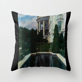 White House Lantern Slide Remastered Throw Pillow