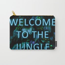 Welcome to the Jungle - Neon Typography Carry-All Pouch