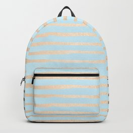 Abstract Stripes Gold Tropical Ocean Sea Turquoise Backpack