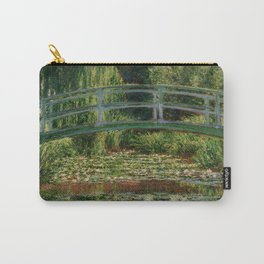 """Claude Monet """"The Japanese Footbridge and the Water Lily Pool, Giverny"""" Carry-All Pouch"""