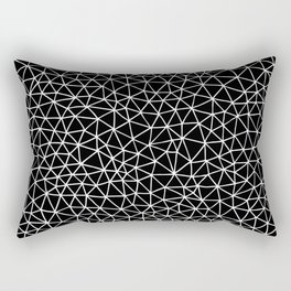 Connectivity - White on Black Rectangular Pillow