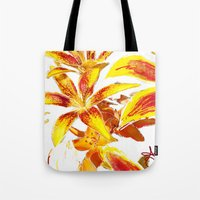 lily Tote Bags featuring Lily by ANoelleJay