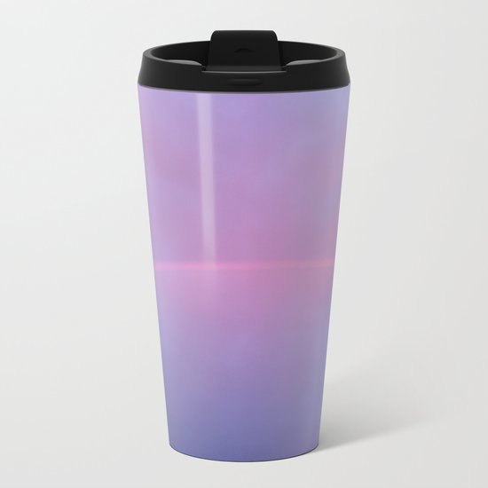A Rainbow In A Sky Colored By The Sunset Metal Travel Mug