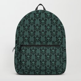 Halloween Damask Teal Backpack