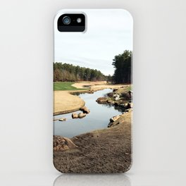 Golf Creek Winding iPhone Case