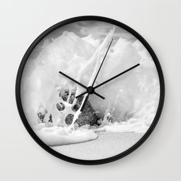 The Shore (Black and White) Wall Clock