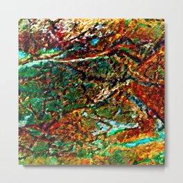 Emerald Impressions Abstract Metal Print