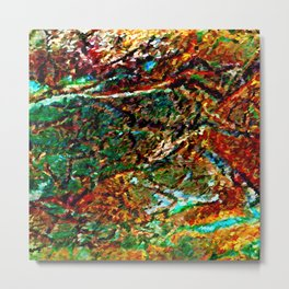 Emerald Impressions Abstract Metal Print