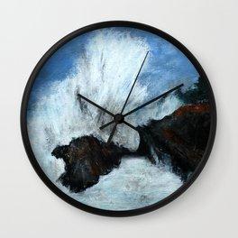 Oregon Waves Acrylic Painting Wall Clock