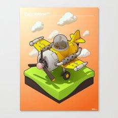 Pencilplane III : 3D rendering Canvas Print