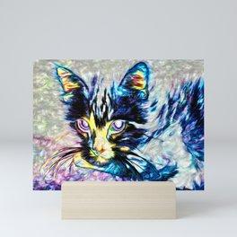Ghost Cat 1 Version 2 Mini Art Print