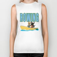 rowing Biker Tanks featuring Rowing by BATKEI