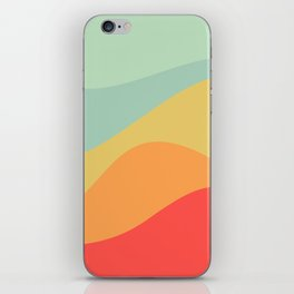 Abstract Color Waves - Bright Rainbow iPhone Skin