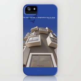 Man no wings iPhone Case