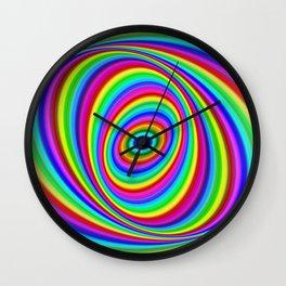 Rainbow Hypnosis Wall Clock