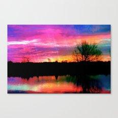 Watercolor January Texas Sunrise Canvas Print