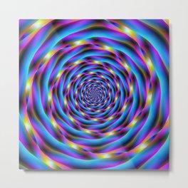 Vortex in Blue and Violet Metal Print