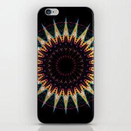Futuristic Zen Mandala iPhone Skin