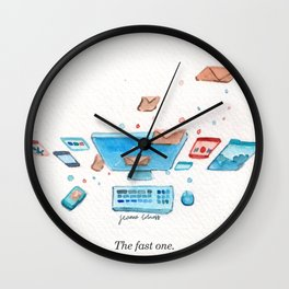 Letters Story Part 3/6: The fast one Wall Clock
