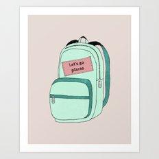 Backpack Art Print