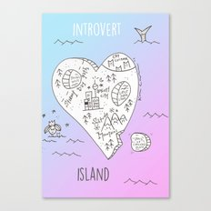 INTR0V3RT ISL4ND Canvas Print
