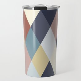 Earth Tones and Blues Geometry IIA Travel Mug