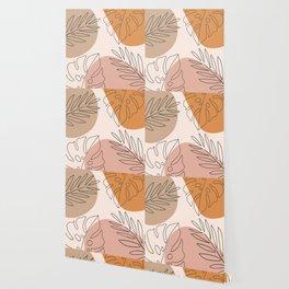 Abstract Nature Leaf Minimalist Print Wallpaper