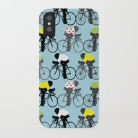 cycling iPhone & iPod Cases featuring Cycling by Mix Match Make