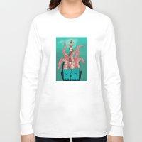 sleep Long Sleeve T-shirts featuring Sleep by Arron Croasdell