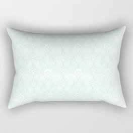 Miami Beach Motel- Mint Rectangular Pillow