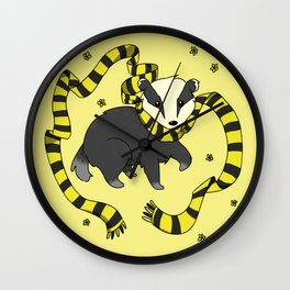 Patient Badger Wall Clock
