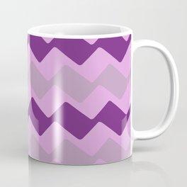 Purple Zig Zag Pattern Coffee Mug