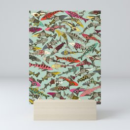 shark party summer Mini Art Print
