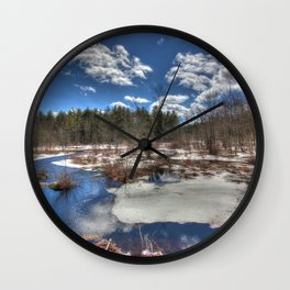 Early Spring Marsh Wall Clock
