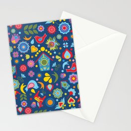 Swedish Folk Art Garden Stationery Cards