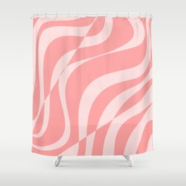 Red Fracture Pattern Shower Curtain