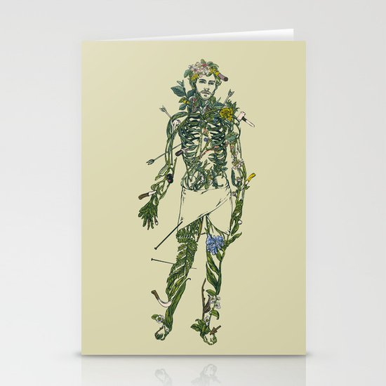 Wound Man Stationery Cards