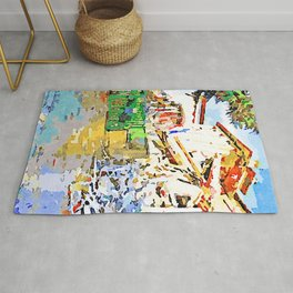 L'Aquila: collapsed hotel and rubble Rug