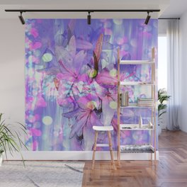 LILY IN LILAC AND LIGHT Wall Mural