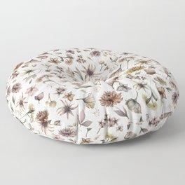 Botanical Study Floor Pillow