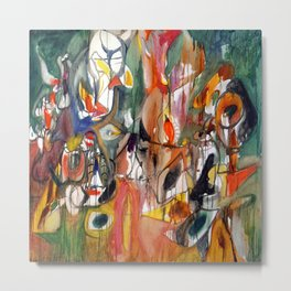 Arshile Gorky One Year the Milkweed Metal Print