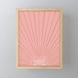 Good Morning Son - Piggy Framed Mini Art Print