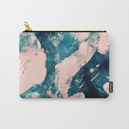 Tenerife: a vibrant abstract in blue, green, and pink Carry-All Pouch
