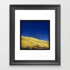 golden hillside Framed Art Print