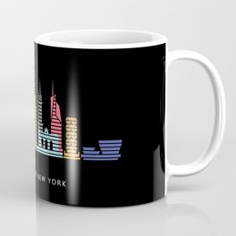 New York Skyline Empire State Poster Black Coffee Mug