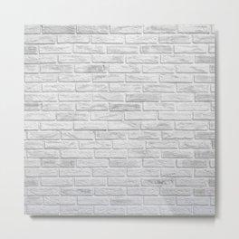 White Brick Metal Print